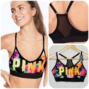 PINK VS Ultimate Lightly Lined Sports Bra Floral M